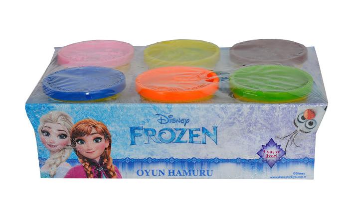 GOKIDY - 6 lı Frozen Oyun Hamuru